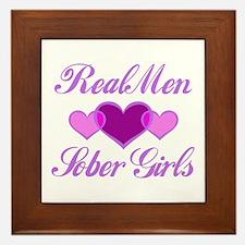 Real Men Love Sober Girls Framed Tile