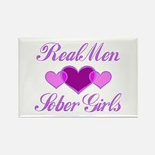 Real Men Love Sober Girls Rectangle Magnet
