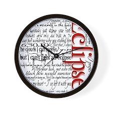 eclipse movie quotes twilight saga blac Wall Clock