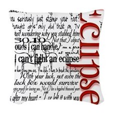 eclipse movie quotes twilight  Woven Throw Pillow