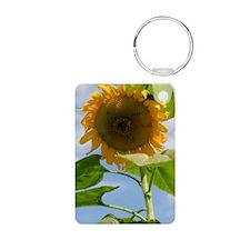 Sunflower Journal Aluminum Photo Keychain