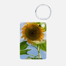 Sunflower Journal Aluminum Photo Keychain