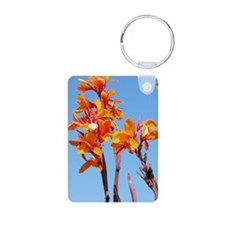 Tropical Flower Journal Aluminum Photo Keychain