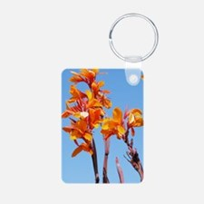 Tropical Flower Journal Aluminum Photo Keychain