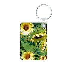 sunflowers journal Aluminum Photo Keychain