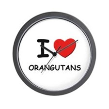 I love orangutans Wall Clock