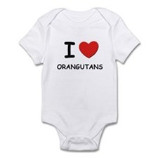 I love orangutans Infant Bodysuit
