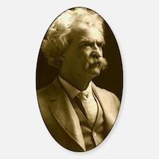 1906_portraitseated_bradley1242x153 Sticker (Oval)