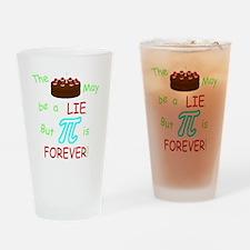 Cake vs Pi Drinking Glass