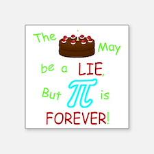 "Cake vs Pi Square Sticker 3"" x 3"""