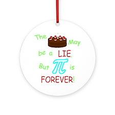 Cake vs Pi Round Ornament