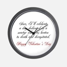 Martyr Valentine Wall Clock