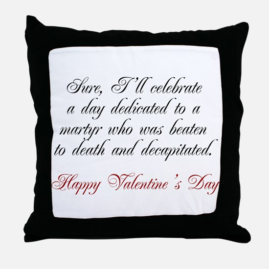 Martyr Valentine Throw Pillow