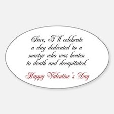 Martyr Valentine Oval Decal