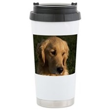 (2) golden retriever head shot Travel Mug