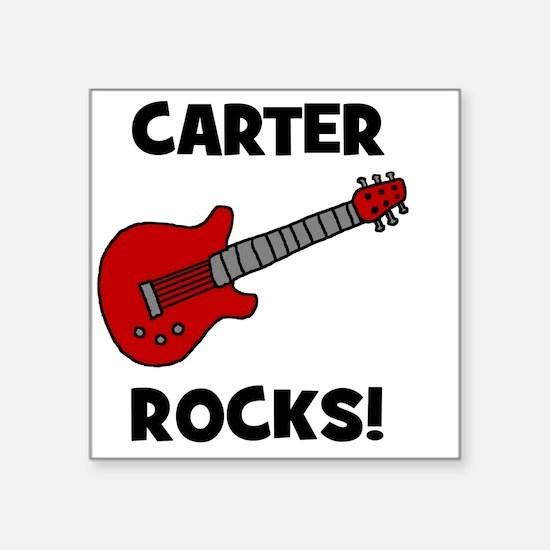 "carterocks Square Sticker 3"" x 3"""