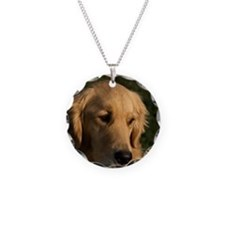 (15) golden retriever head s Necklace