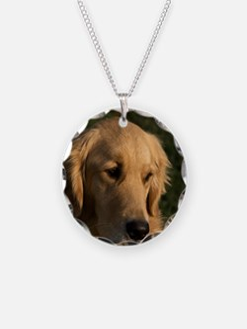 (15) golden retriever head s Necklace