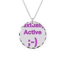 Textually Active Pink.eps Necklace