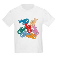 Colorful Euphoniums - Kids T-Shirt