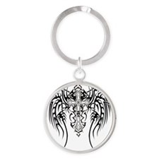 tribal_wings Round Keychain