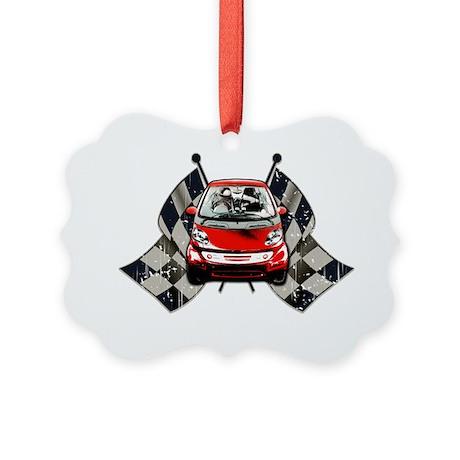 Smart Checkered Picture Ornament