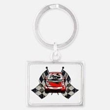 Smart Checkered Landscape Keychain