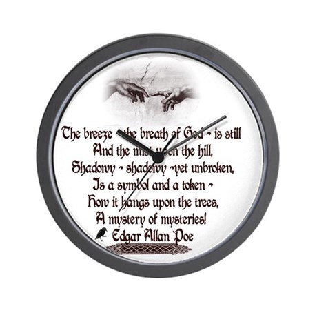 Edgar Allan Poe Breath Wall Clock