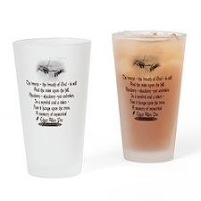 Edgar Allan Poe Breath Drinking Glass