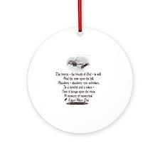 Edgar Allan Poe Breath Round Ornament