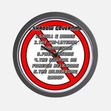 The Shadow Government Wall Clock