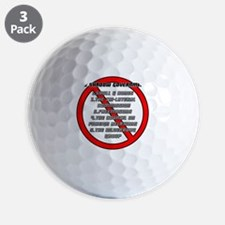 The Shadow Government Golf Ball