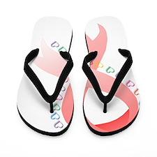 Breast Cancer Hearts 2 T Flip Flops