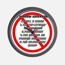 The Shadow Government Blk Wall Clock
