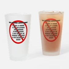 The Shadow Government Blk Drinking Glass