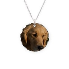 (15s) golden retriever head  Necklace
