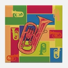 Euphonium Colorblocks - Tile Coaster