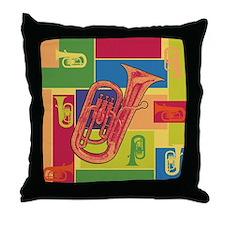 Euphonium Colorblocks - Throw Pillow