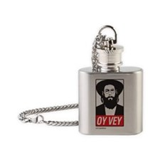Oy-Vey Label Flask Necklace