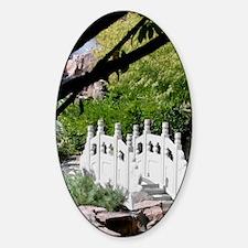 Chinese Garden Sticker (Oval)