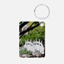Chinese Garden Aluminum Photo Keychain