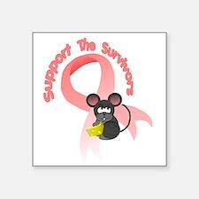 """Support the survivors ribbo Square Sticker 3"""" x 3"""""""