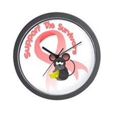 Support the survivors ribbon mousey T Wall Clock