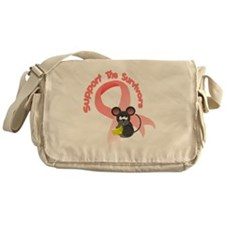 Support the survivors ribbon mousey  Messenger Bag