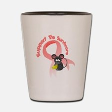 Support the survivors ribbon mousey T Shot Glass