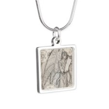 MetatronSquare Silver Square Necklace