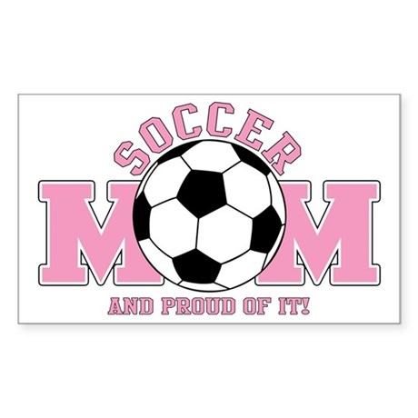 Proud Soccer Mom Sticker (Rectangle)