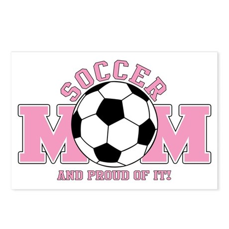 Proud Soccer Mom Postcards (Package of 8)