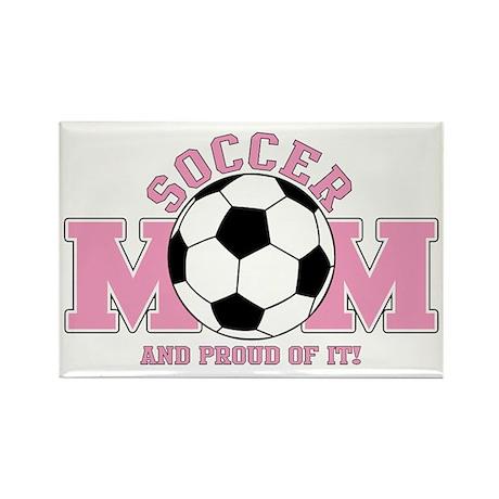 Proud Soccer Mom Rectangle Magnet