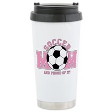 Proud Soccer Mom Travel Mug